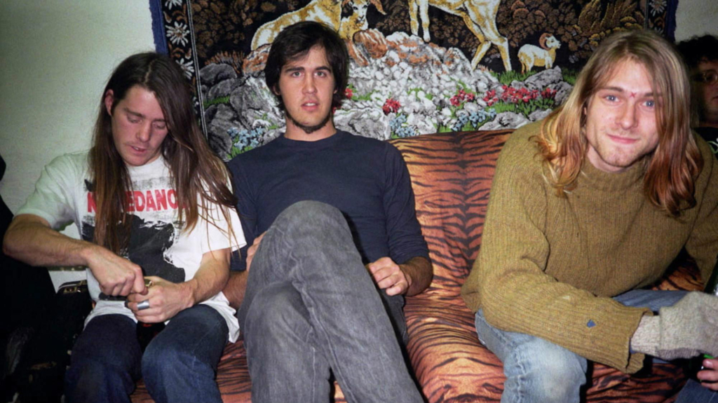 Chad Channing, Krist Novoselic e Kurt Cobain na época de Belach
