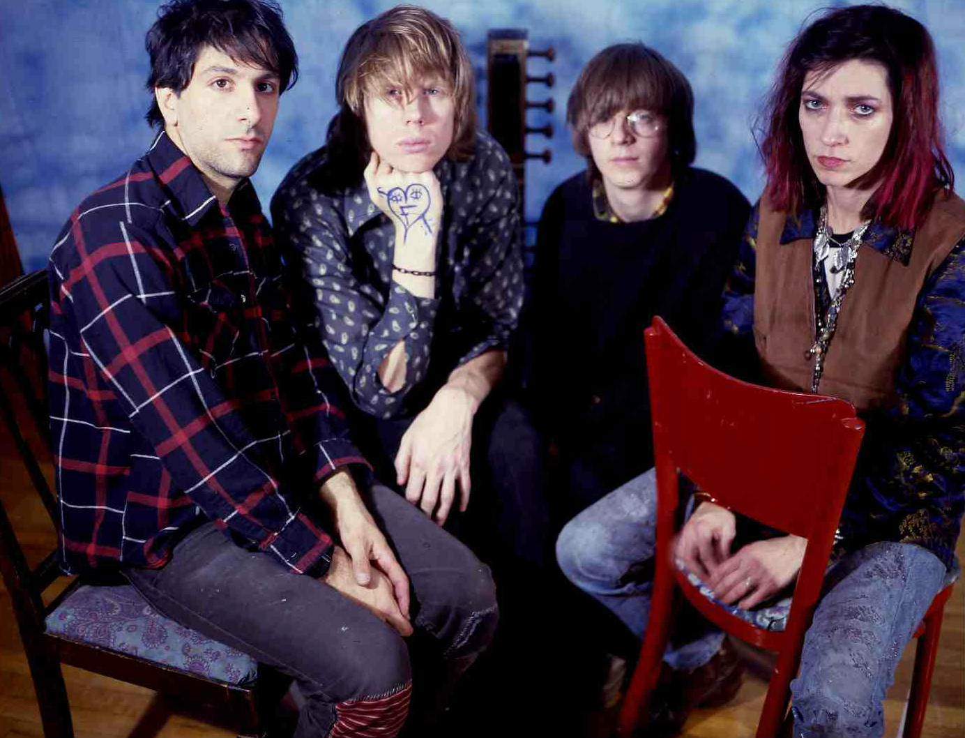 Sonic Youth na fase entre os discos Bad Moon Rising e Evol